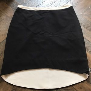 Worthington fitted, black skirt with white detail